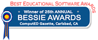 Winner of 25th Annual BESSIE AWARDS - Best Educational Software