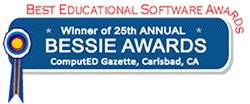 Winner of 25th Annual BESSIE AWARD : Best Educational Software